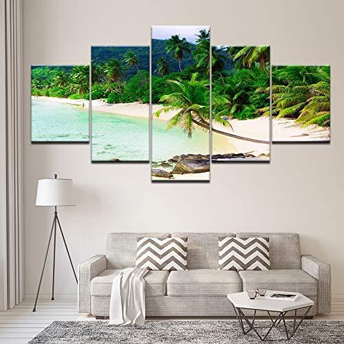 Print 5 schilderij HD poster foto's op het canvas paradijs prachtige palmen natuur landschap papieren Poster canvas print foto muurschildering woonkamer decoratie 30x40 30x60 30x80cm Geen Frame