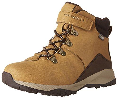 Merrell Ml-b Alpine Casual Boot Waterproof, Jungen Trekking- & Wanderstiefel - Orange (Wheat) -  34 EU ( 2 UK )