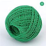 2 STÜCKE 100M 1,5MM-2MM Doppelfarben BaumwollseilHandgemachtes Kunsthandwerk Webschnüre ZubehörEinmachglas Dekore Wickeletikett, Farbe 11