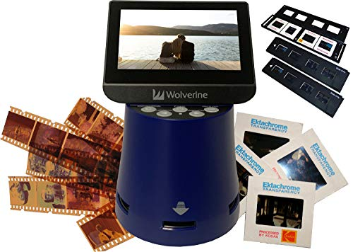 "Wolverine Titan 8-in-1 High Resolution Film to Digital Converter with 4.3"" Screen and HDMI Output (Blue)"