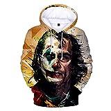 Rugby clothing boutique Q 2019Clown à Capuche, Super Villain Clown numérique 3D imprimé Chandail à Capuchon, Film Clown Pull (Color : AN-08, Size : XXXXL)