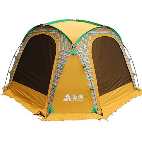 GFBVC Carpa para Camping 6-8 portátil Persona Beach Shade Plegable Dom Refugio Tamaño de la Familia Tienda Amarilla Carpa Impermeable portátil (Color : Yellow, Size : One Size)