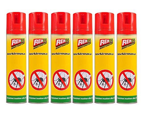 Reinex 6X Insektenspray 400ml Insektenstopp Mückenspray Fliegenspray Wespenspray