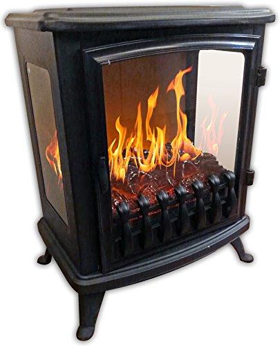 Chemin \'Arte 1393D Fire Glass Elektrischer Kamin, schwarz