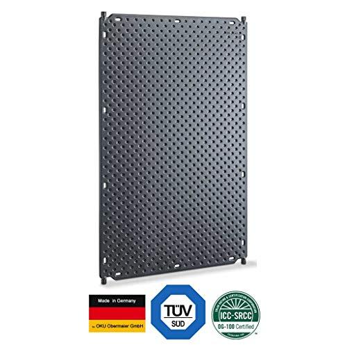well2wellness® Pool Solarabsorber Solarheizung 1001 mit 4 Anschlussstutzen Ø25mm