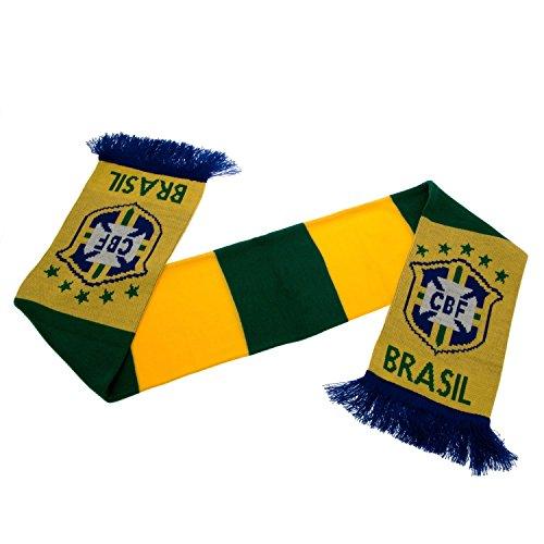 Official Football Merchandise Écharpe de football en tissu acrylique Brazil Long