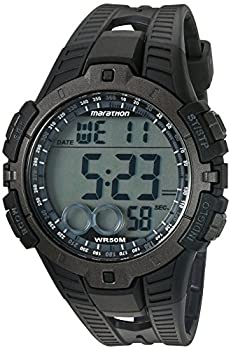 Marathon by Timex Men's T5K802 Digital Full-Size Black/Gray Resin Strap Watch
