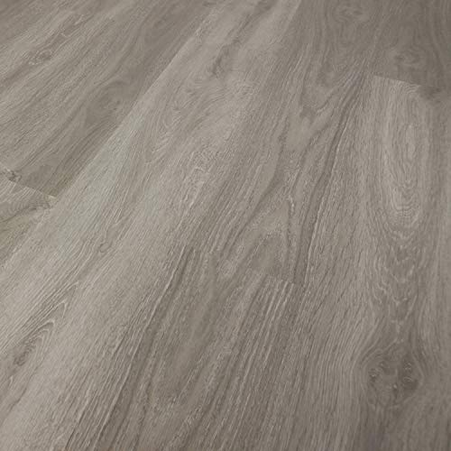 TRECOR® Klick-Vinylboden Eiche Landhausdiele grau HDF 10,5 mm Stark, 0,30 Nutzschicht, Holzstruktur 1-Stab I für 29.99 €/m² (Vinylboden | 1 m², Eiche Grau Landhausdiele)