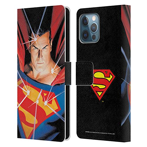 Head Case Designs Officially Licensed Superman DC Comics Alex Ross Mythology Famous Comic Book Covers Leather Book Wallet Case Cover Compatible with Apple iPhone 12 Pro Max