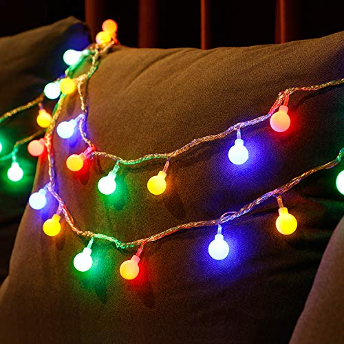 TORCHSTAR 33ft 100 LEDs Globe String Light Kit, 8 Modes Decorative Lighting, PC Coated Copper Wires, Waterproof, for Holiday, Christmas, Thanksgiving, Party, Wedding, Multi-Color