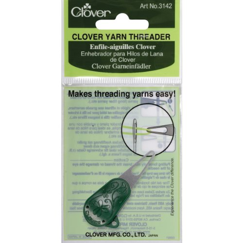 Clover 3142 Yarn Threader,Dark green