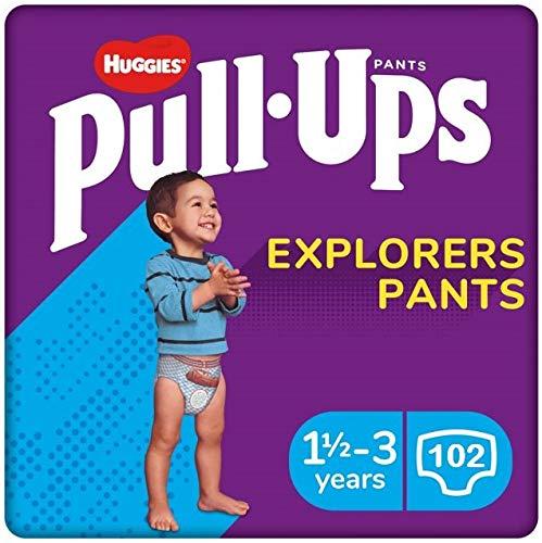 Huggies Pants Pull-Ups Niño Talla 5, 12-17 Kg 102 uds