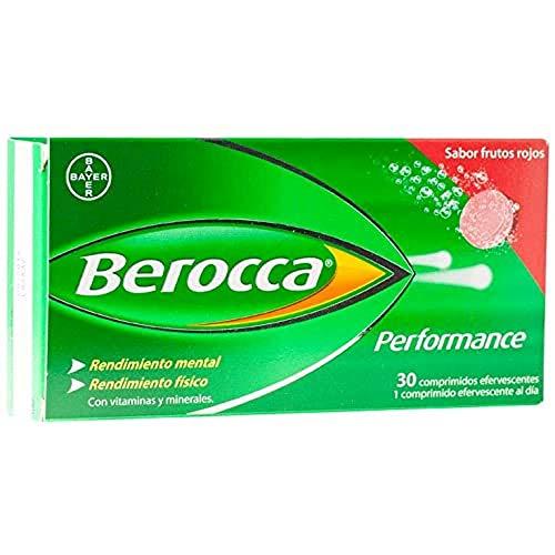 Berocca Performance Comprimidos Sabor Frutos Rojos, 30 unidades