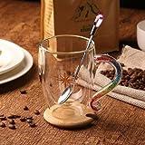 XJYJF Taza de café con mango de diamante sColorful Doce Constelaciones, taza de té, capuchino, mejor regalo, acuario, 260 ml, cerámica (color: Aries, tamaño: 260 ml)