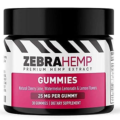 ZEBRA HEMP Premium Gummies – USA Made - Pure Organic Oil for Anxiety, Pain & Stress Relief, Sleep and Mood Support– 750 mg by Zebra Hemp