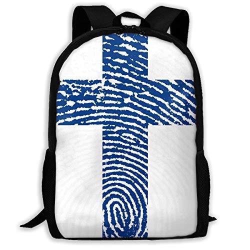 Hui-Shop Reiserucksack Laptop Rucksack Große Wickeltasche - Finnland Rucksack Schulrucksack für Frauen & Männer