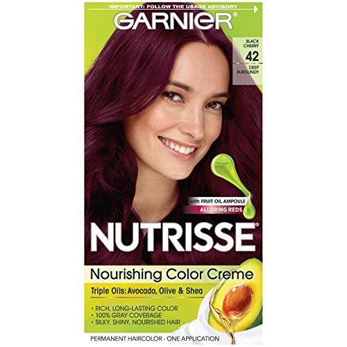 Garnier Nutrisse Nourishing Hair Color Creme, 42 Deep Burgundy (Black Cherry) (Packaging May...