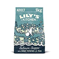 Nutritionally complete, grain free and natural dry food for adult dogs (4 months +) Full of protein and prepared with: 40 Percent salmon Packed full of wholesome fruits and vegetables Natural dog food with added vitamins and minerals No derivatives, ...
