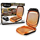 VENTEO - Gotham Grill Electric Low Fat Grill with non-stick Ceramic Copper and Titanium coating, Drip tray - Black Color - PTFE, PFOA and PFOS free