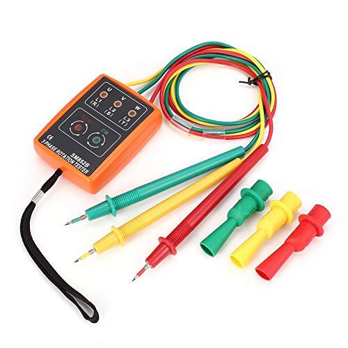 KKmoon Digitaler Phasenanzeige Detektor 3 Phasen Rotationstester 60V ~ 600V AC SM852B LED Summer Phasenfolge Messgerät