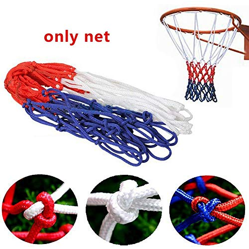 Isincer Basketballnetz,45cm Nylon Basketball Ersatz Netz Dauerhaft Ballnetz Für Standard Größe BasketballKorb 12 Loch Ersatznetz für Outdoor Sports Training