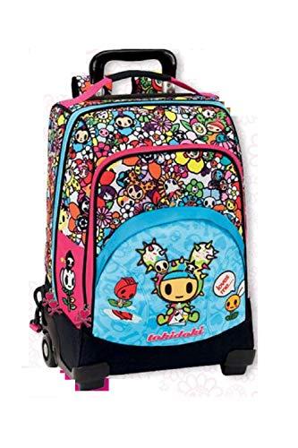 Zaino Scuola Trolley Tokidoki 55034 azzurro-fucsia