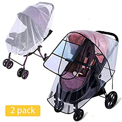 Rain Cover for Stroller - Mosquito Net(2-Piece ...