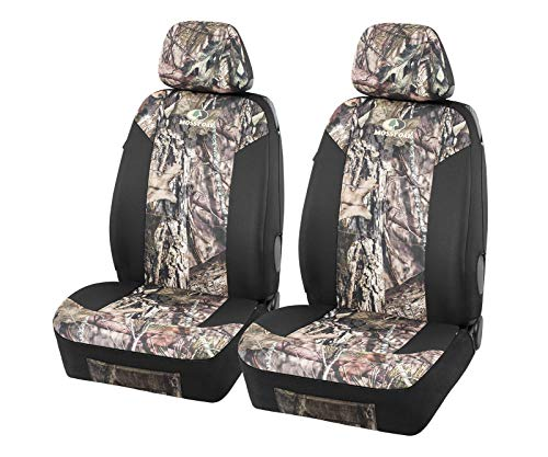 Mossy Oak Low Back Camo Seat Covers, Airbag Compatible, Large Size to Fit Truck Seats - Made with Premium Oxford Fabric - Official Licensed Product
