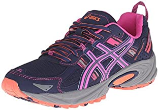 ASICS Women's Gel-Venture 5-W, Indigo Blue/Pink Glow/Living Coral, 9.5 M US