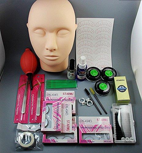 CHENGYIDA 1 Set Valse Wimper Individuele Nep Eye Lashes Extension Make-up Gereedschap Lijm Pincet Borstels Set Kit