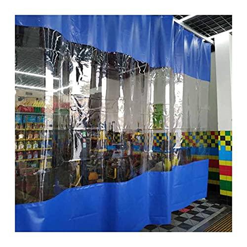 KUAIE Telo Telone Trasparente Tenda Impermeabile Trasparente 0,5mm con Occhielli Antivento e Antipolvere per Gazebo Balcone Pergolato (Color : Clear Blue, Size : 1.6x1.8m)