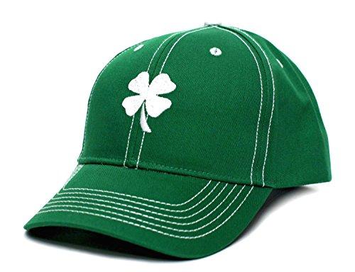 Shamrock Clover Ireland Irish Leaf St Patricks Day Embroidered Hat Cap Green