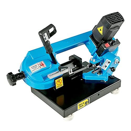 Sierra de cinta de metal de mesa de 220v 1000W, sierra de cinta de regulación de velocidad continua de 40-88MPM para cortar madera, metal, fibra de vidrio, plástico