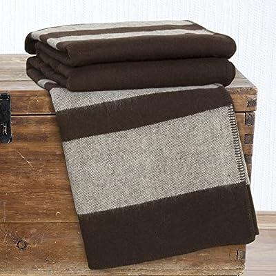 Lavish Home Australian Wool Blanket - Twin - Brown