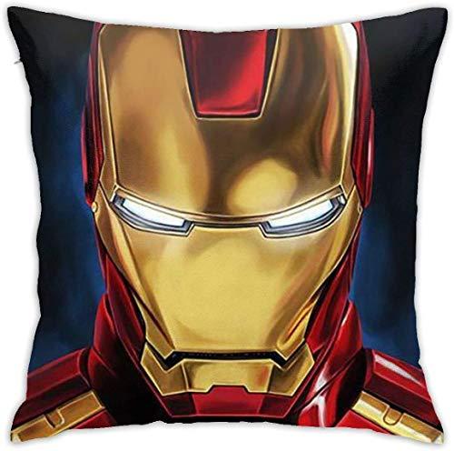 Gypsophila Funda de cojín de Iron Man Decorativo Funda de almohada Sofá Asiento Coche Suave 45 x 4