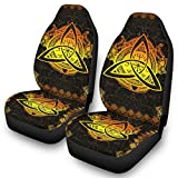 Front Seat Protector Covers Viking Gold Tattoo Triquetra Celtic Knot Print Auto...