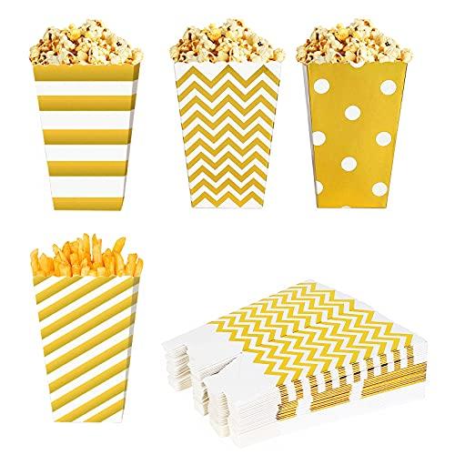 otutun Catole di Popcorn 40 Pezzi Scatole Popcorn Piccole scatole Pop Corn per Caramelle Sacchetti per Popcorn e Caramelle per Feste, Compleanni, Matrimoni, Idea Regalo