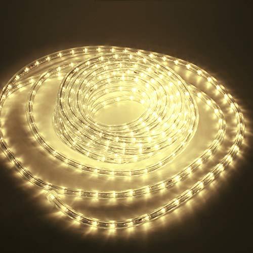 Kefflum LED Lichtschlauch,led schlauch, Lichterkette Licht Leiste 36LEDs/M Schlauch für Innen und Außen IP65 30M Warmweiß