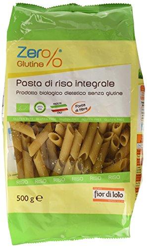Zer% Glutine Penne di Riso Integrale - 500 gr, Senza glutine