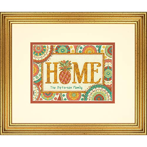 Juego de punto de cruz de piña para casa, Aida, multicolor, 17 x 1 x 12 cm