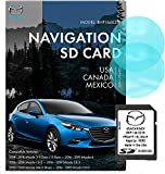 Original SD BHP166EZ1K GPS Navigation for Car Mazda 3|6|CX-3|CX-5|CX-9 Latest Update, Support Speed and Red Light Warning Pre-Installed US, Mexico,Canada + South America Maps