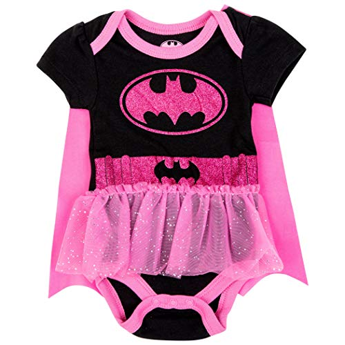 Happy Threads Batgirl Symbol Snapsuit with Cape 3-6 Months