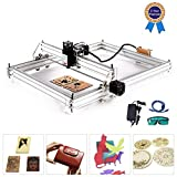 TOPQSC Carving Machine DIY Kit, CNC Laser Engraver Desktop 12 V USB incisione laser Carver, Stampante laser regolabile Carving & Cutting Carta in plastica leggera, 2 assi (40 * 50, 2500)