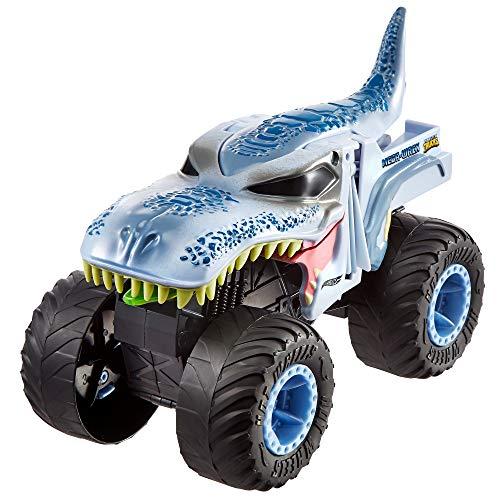 Hot Wheels - Monster Trucks Vehículo Mega-Wrex 1:24, Coches de juguetes para niños +3 años (Mattel GCG08)