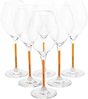 Veuve Clicquot Champagne Glasses Prestige Box Set Yellow Rich Glass Flute (6 pcs)