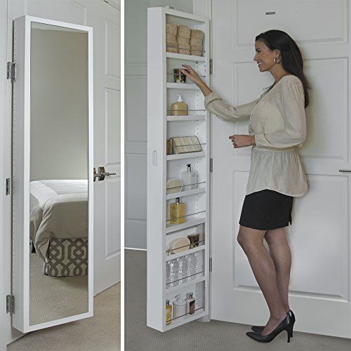 Cabidor Deluxe | Mirrored | Behind The Door | Adjustable | Medicine, Bathroom, &...