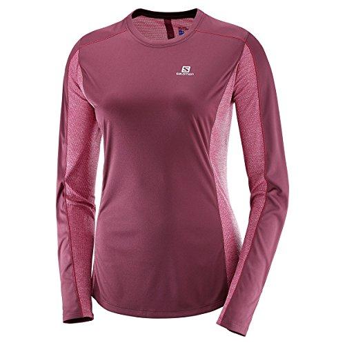 Salomon Mujer Camiseta deportiva de manga larga Agile LS, Mezcla de sintéticos,...