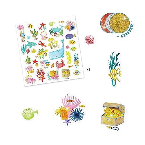 DJECO Aqua Dream-sticker ballonnen UNISEX-INFANTIL, meerkleurig (39261)