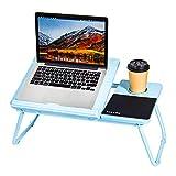 Adjustable Laptop Bed - Tray Desk for Notebook Stand Desk, Portable Lap Table Desk (Blue)