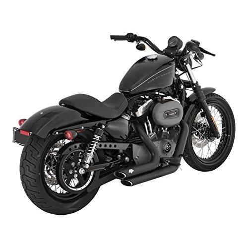 Auspuffanlage mit Schalldämpfer Modell Vance & Hines Shortshots Staggered Farbe: schwarz geeignet Kompatibel mit Harley Davidson Sportster XL Superlow XL883L Sportster 883R, ab Baujahr 2004 bis heute